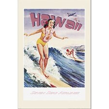 Fly To Hawaii Wall Art