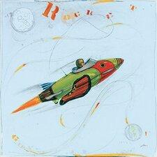 Rocket Ship Contemporary Mount Art