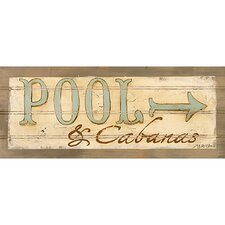 Pool & Cabanas Wall Art