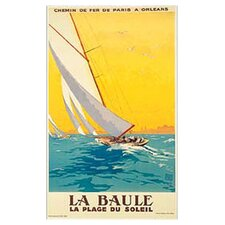 <strong>Art 4 Kids</strong> La Baule Vintage Sail Wall Art