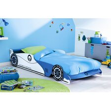 Blue Formula One Car Bed Frame