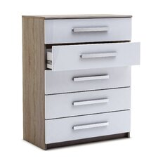 Las Vegas 5 Drawer Wide Chest