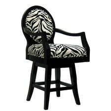 Zebra Bar Stool with Cushion