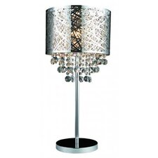 "Helix 25"" H Table Lamp with Drum Shade"