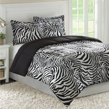 <strong>JLA Basic</strong> Madagascar Bright Zebra Mini Comforter Set