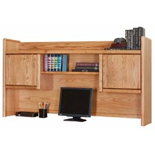 Contemporary Medium Oak Bookshelf Hutch