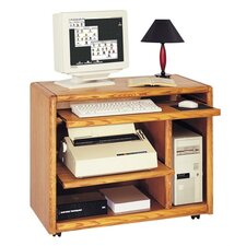 "Contemporary 38"" W Computer Cart"