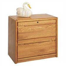 Contemporary Medium Oak 2 Drawer Lateral File