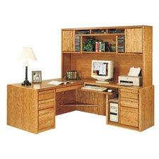 Contemporary Medium Oak Deluxe Hutch