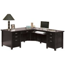 <strong>Martin Home Furnishings</strong> Tribeca Loft L-Shape Desk Office Suite