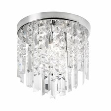 3 Light Crystal Flush Mount