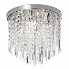 <strong>Dainolite</strong> 4 Light Crystal Flush Mount