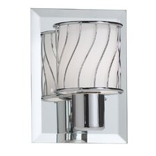 1 Light Wall Sconce with Frosted Glass Shade