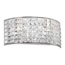 Crystal 2 Light Bath Vanity Light