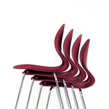 Pikaia in Hide Stacking Chair