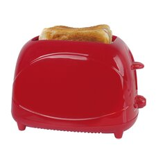2 Slice 700W Toaster in Red