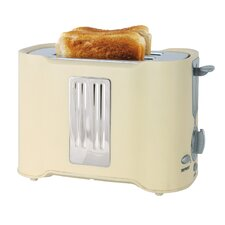 2 Slice Toaster in Cream and Chrome
