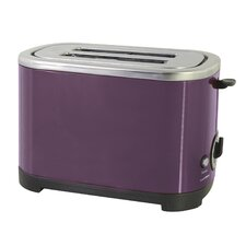 2 Slice Toaster in Plum Steel