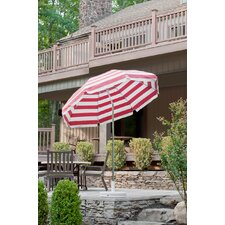 7.5' Steel Striped Marine Patio Umbrella with Crank and Tilt
