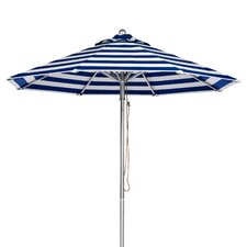 7.5' Aluminum Striped Market Umbrella