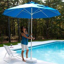 7.5' Square Fiberglass Market Umbrella