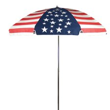 7.5' Steel Marine American Flag Patio Umbrella