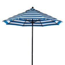 11' Fiberglass Striped Market Umbrella