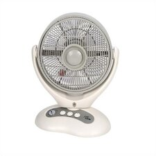 Oscillating Box Fan with Ionizer