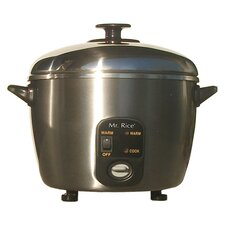 6 Cup Stainless Steel Rice Cooker and Steamer