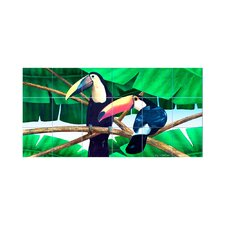 <strong>LMT Tile Murals</strong> Toucans Kitchen Tile Mural in Multi-Colored