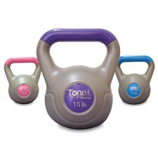 <strong>Tone Fitness</strong> Cement Filled Kettlebell Set
