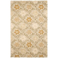 Country Tan/Green Bubblerary Rug