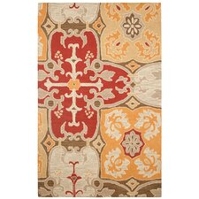 Country Red Multi Bubblerary Rug