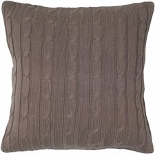 <strong>Rizzy Home</strong> Cable Knit Wooden Button Closure Pillow