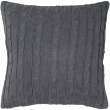 Cable Knit Wooden Button Closure Pillow