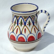 <strong>Le Souk Ceramique</strong> Tabarka Design 16 oz. Large Mug (Set of 4)