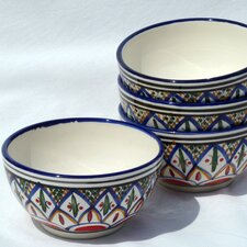 <strong>Le Souk Ceramique</strong> Tabarka Design Soup / Cereal Bowl (Set of 4)