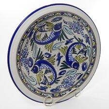 """Aqua Fish Design 14"""" Serving Bowl"""