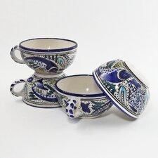 Aqua Fish Design 14 oz. Latte and Soup Mug (Set of 4)