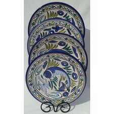 <strong>Le Souk Ceramique</strong> Aqua Fish Design Dinner Plates (Set of 4)