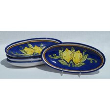 "Citronique Design 4.5"" Oval Platter (Set of 4)"
