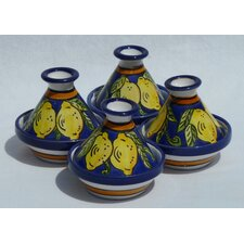 <strong>Le Souk Ceramique</strong> Citronique Design Mini Tagines (Set of Four)