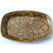 "<strong>Le Souk Ceramique</strong> Honey Design 13"" Rectangular Platter"