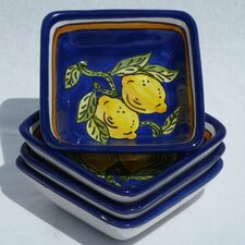<strong>Le Souk Ceramique</strong> Citronique Design Serving Dish (Set of 4)