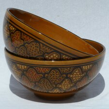 "<strong>Le Souk Ceramique</strong> Honey Design 8"" Serving Bowl (Set of 2)"