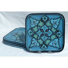 "Sabrine Design 9"" Square Plates (Set of 4)"