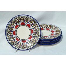 "Tabarka Design 7"" Saucers (Set of 4)"