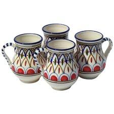 Tabarka Design 16 oz. Large Mug (Set of 4)