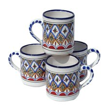 Tabarka Design 12 oz. Coffee Mug (Set of 4)