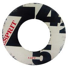 Number Distressed Round Mirror